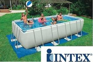 NEW INTEX RECTANGULAR ULTRA FRAME POOL SET - 131549249 - 18ft x 9ft x 52in