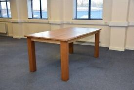 Brand New Boxed £125 Solid European Oak Dining Table RRP £399