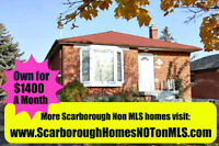Scarborough-Wexford- Own for $1400/mth- Not on MLS