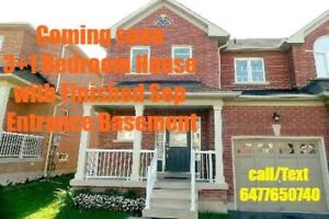 Semi detached 3+1 bedroom with sep ent finished basement