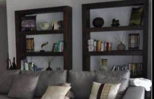 Rustic Custom Made Bookcases with Natural Wood finish from Borneo Bateman Melville Area Preview