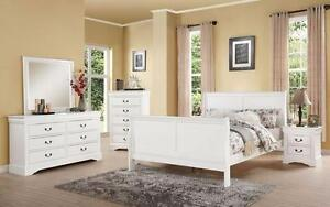 New!!! Louis Phillip Bedroom Set ONLY $879... Set includes Dresser, Mirror, Queen Headboard, Queen Footboard and Queen R