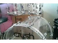 Crush acrylic drum kit