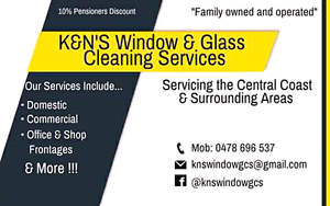 K&N's Window & Glass Cleaning Services Budgewoi Wyong Area Preview