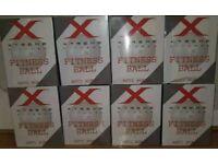 JOBLOT OF 8- X-TREME FITNESS ANTI-BURST 65CM EXERCISE BALLS PLUS PUMP. NEW BOXED