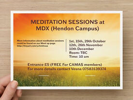 Meditation Classes held at Middlesex University