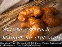 Learn French - Manger un croissant! - French Language Tutor