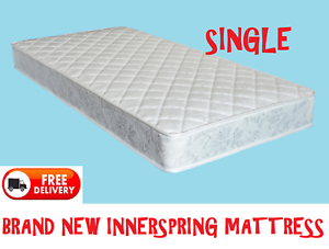 Brand New SINGLE Size Bed Innerspring Mattress - DELIVERED FREE New Farm Brisbane North East Preview