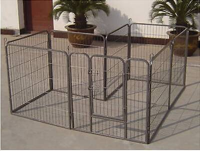 8 Panel Heavy Duty Pet Dog Enclosure Exercise Play Pen 80X60CM