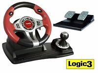 Logic 3 steering wheel and pedals