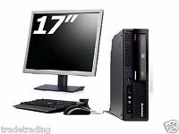 "WOHO FULL DUAL CORE DESKTOP PC & 17"" TFT COMPUTER WITH WINDOWS 7 & WIFI & 2GB"