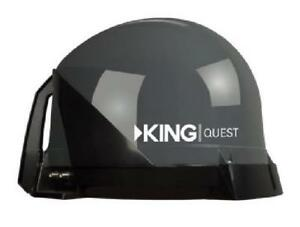 KING Quest™ For Bell™ TV (Canada) and DISH® (USA) - Portable Automatic Satellite TV Antenna - Black - For Canada - (VQ42