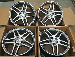 "NEW Set of 4 OEM AMG Wheels 18"" from a 2012 E 350 Mercedes"