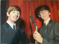 BEATLES PAIR OF ORIGINAL 1963 P0STCARDS GEORGE & RINGO