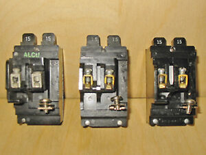 ITE BULLDOG PUSHMATIC 15 & 20 AMP TWIN CIRCUIT BREAKERS ~ RARE!