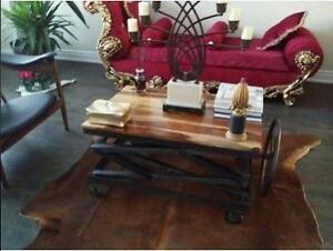 Crank Wooden Coffee Table