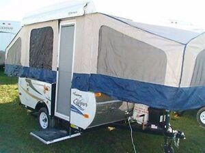 TIRED OF SLEEPING IN TENTS - RENT A TENT TRAILER INSTEAD