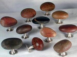 Hand Crafted Glacial Stone Bathroom and Kitchen Cabinet Knobs