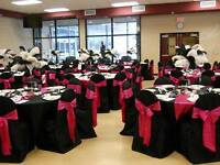 Black Banquet Style Chair Covers for Sale