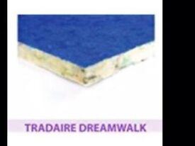Brand New, unopened 15 metre roll of Tredaire Dreamwalk 10mm underlay