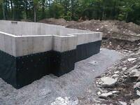 Foundation water-proofing, Damp-proofing, Driveway Sealing