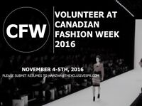 Volunteers needed for Canadian Fashion Weekend!