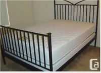 Black medal bed frame