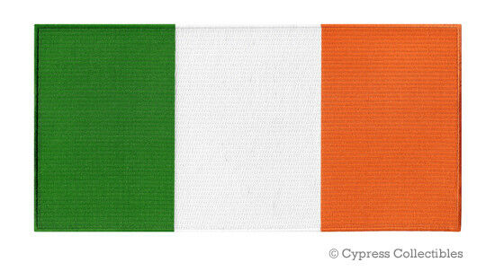 LARGE IRELAND FLAG PATCH embroidered iron-on IRISH EIRE TRI-COLOR BACK EMBLEM
