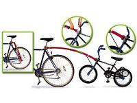 Kids Bike Red Tow Bar - Brand Trail Gator with original Box