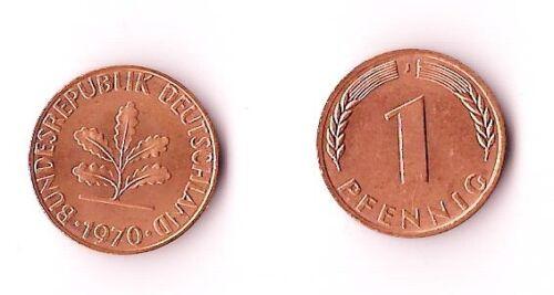 1970 - J WEST GERMANY 1 Pfennig BU