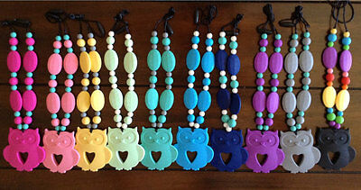 Owls For Baby Shower (SILICONE OWL TEETHING / NURSING NECKLACE FOR MOMMY! BPA FREE! BABY)