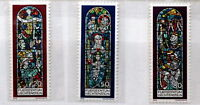 Stained glasses of church -- Art stamps