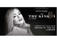 The wonderful Faith Evans Concert at Indigo the O2 this Sunday - Tickets