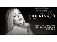 Concert - The wonderful Faith Evans Concert at Indigo the O2 this Sunday - Tickets