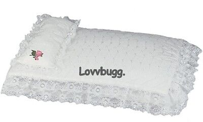 "Lovvbugg Eyelet Bed Bedding for 18"" American Girl Doll Accessory"