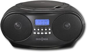 Insigniau2122 - CD Boombox with AM/FM Tuner - Black