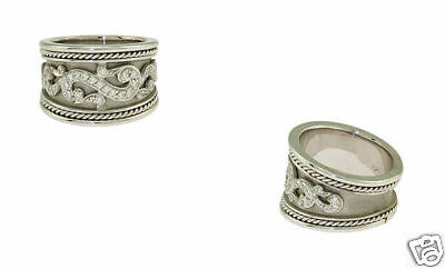 18K White Gold Wide Diamond Swirl Fashion Ring Diamond Swirl Fashion Ring
