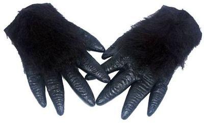 Gorilla Monkey Ape Wild Animal Rubber Hands Fancy Dress Prop Accessory  (Wild Gorilla Kostüme)