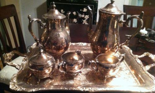 Wm Rogers Silver Tea Set | eBay