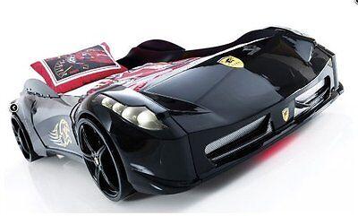 Childrens BLACK, WHITE, RED Ferrari 458 Italia Style Spider Racing Car Bed Frame