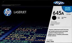 C9730A Black HP 645A ORIGINAL LaserJet Toner Cartridge for HP5500 and HP5550.