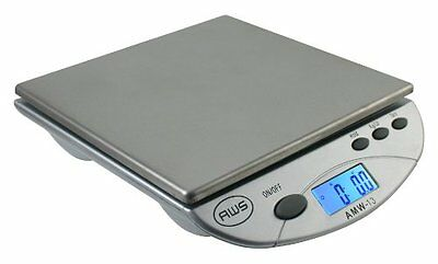 American Weigh Scales Silver AMW13-SL Digital Postal/Kitchen Scale, 13 LB by 0.1