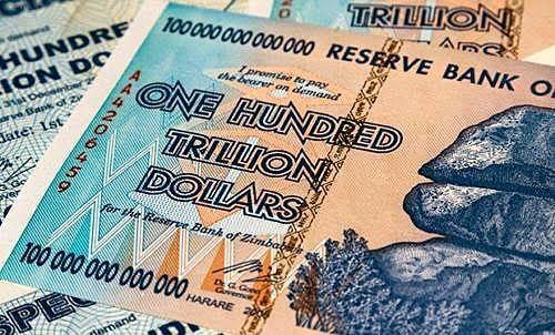 ZIMBABWE 100 TRILLION DOLLARS AA 2008 SERIES P91 UNC AUTHENTIC, UV INSPECTED COA