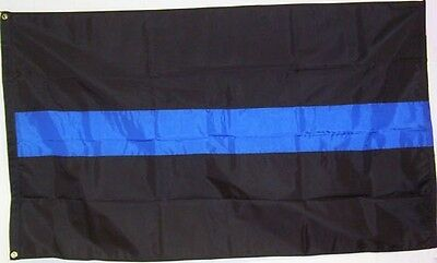 Thin Blue Line 3' x 5' Outdoor Flag   *FREE SHIPPING*