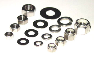 STAINLESS NUTS LOCKS FLAT WASHERS 1/4-20  5/16-18  3/8-16  1/2-13  260+p