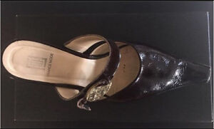 Brown France Mode Ladies Shoes Used with Box