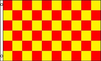 3'x5' Checkered Flag Red & Yellow Outdoor Indoor Banner Pennant Sports New 3x5 Checkered Outdoor Pennant Banner