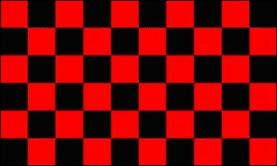3'x5' Black & Red Checkered Flag Outdoor Banner Polyester Pennant New 3x5 - Checkered Flag Pennant Banner