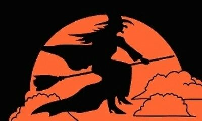 3'x5' Happy Halloween Witch Flag Outdoor Indoor Holiday Tric