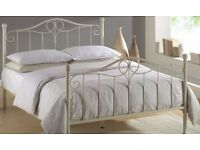 Brand new white modern king size bed